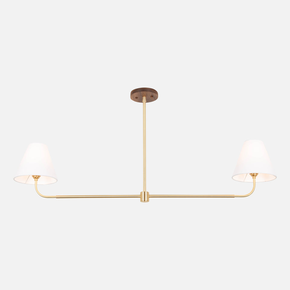 Slope Chandelier with Taper Shades