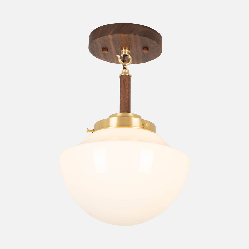 Dilworth Flush Mount w/ Scallop Shade