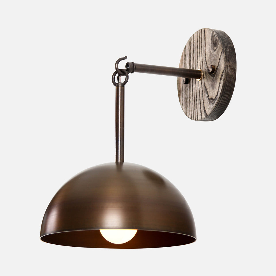 Link Sconce with Dome