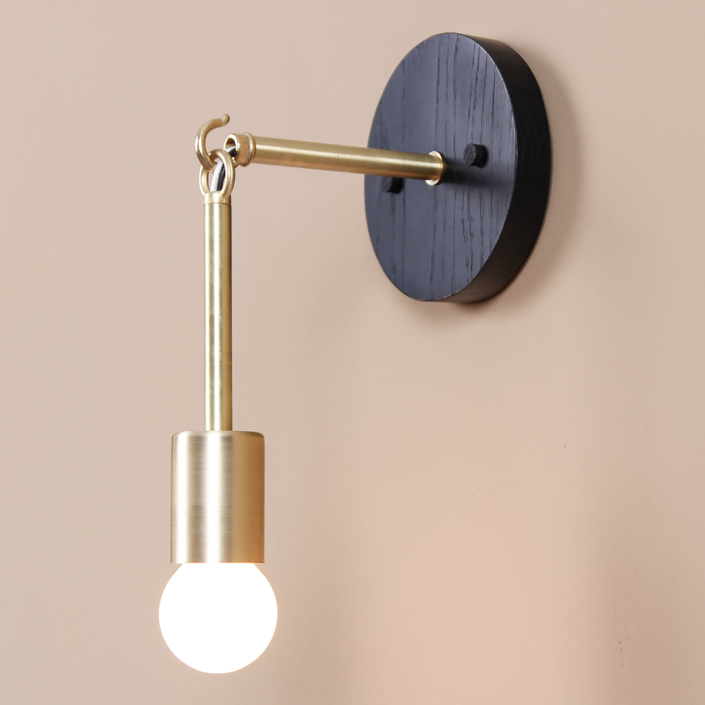 Link Sconce with Exposed Bulb