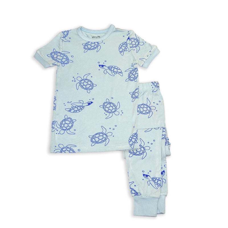 Silkberry Baby Bamboo Short Sleeve Pajama Set (Sea Turtle Print)