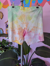 Load image into Gallery viewer, Upcycled Tie-Dyed Bike Shorts