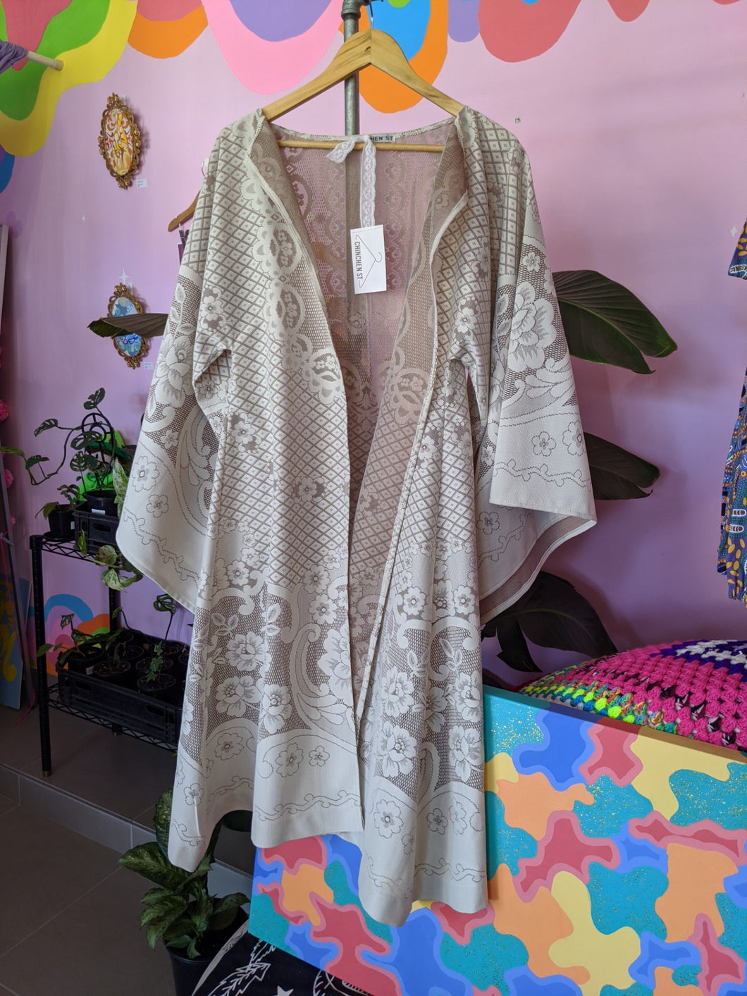 One-Off Vintage Lace Robe