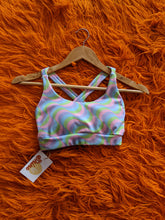Load image into Gallery viewer, Psychedelic Rainbow Sports Bra in Sherbert