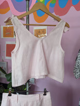 Load image into Gallery viewer, Bonita Singlet - Baby Pink Linen