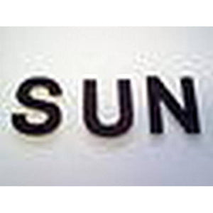 Hand Cut Fusible Glass Letters Set of 26