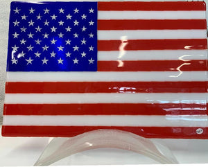 American Flag with destressed stars