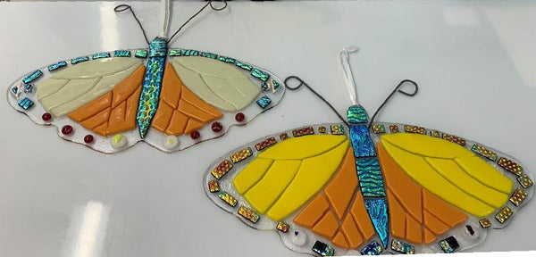 Butterflies with dichroic accents