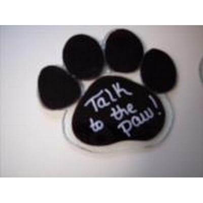 Talk to the Paw print