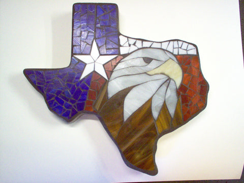 Texas Shaped Stone With Eagle