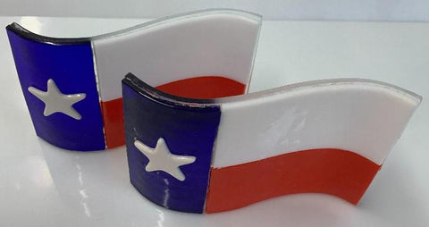 Texas Flag stand-up wave