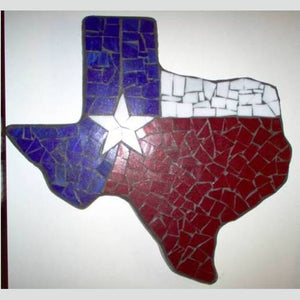 Texas shaped flagged stone