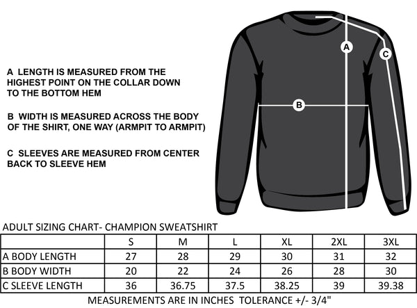 SACRED HEART SPIRIT WEAR CIRCLE LOGO- ADULT CHAMPION CREW SWEATSHIRT
