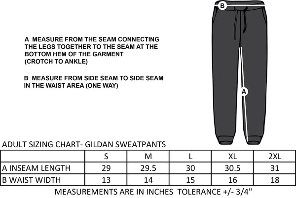 ST. ANNE STAFFWEAR- GILDAN COTTON SWEATPANTS