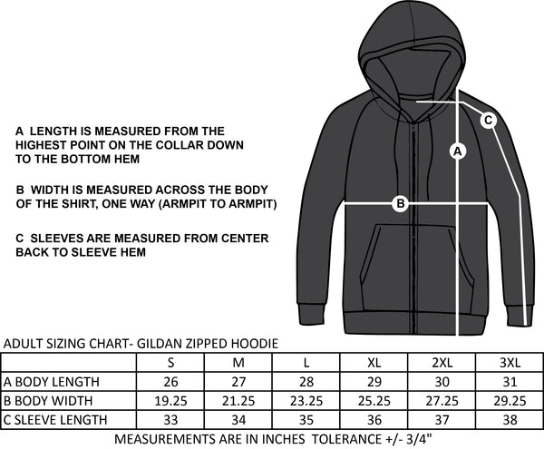 ST. FRANCIS OF ASSISI SPIRITWEAR- ADULT- GILDAN ZIPPED COTTON HOODIE