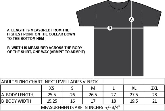 ST. FRANCIS OF ASSISI STAFFWEAR- NEXT LEVEL RINSPUN V-NECK TEE