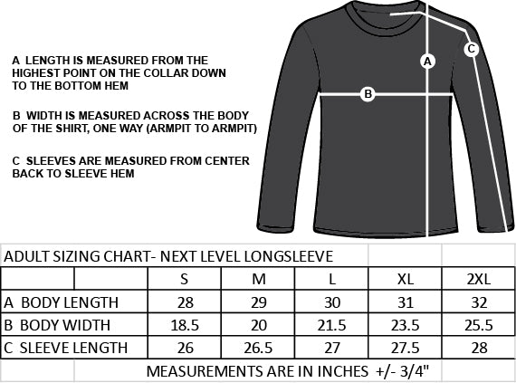 BROADVIEW STAFF- PAWPRINT- NEXT LEVEL LONGSLEEVE TEE