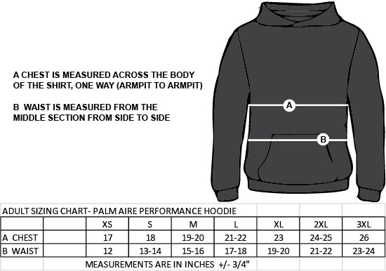 SMT SPIRITWEAR- TITANS- ADULT PALM AIRE PERFORMANCE HOODIE-TWILL
