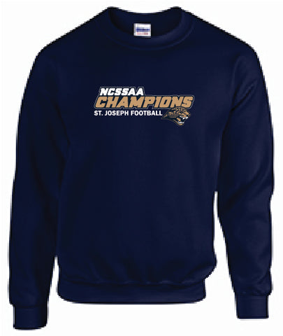 ST. JOSEPH FOOTBALL- GILDAN COTTON CREW SWEATSHIRT
