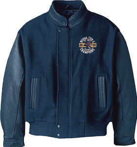 ST. JOSEPH FOOTBALL - GRADUATE MENS MELTON AND LEATHER JACKET