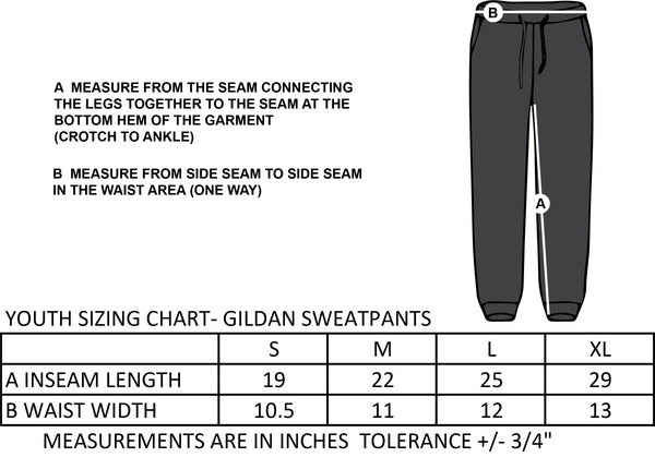 GUARDIAN ANGELS SPIRITWEAR- YOUTH GILDAN COTTON SWEATPANT