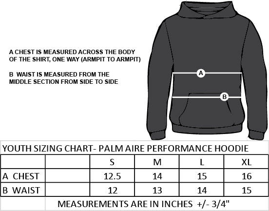 SMT SPIRITWEAR- TITANS- YOUTH PALM AIRE PERFORMANCE HOODIE-TWILL