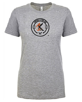 JUNIOR & THE KID- NEXT LEVEL LADIES RINGSPUN TEE