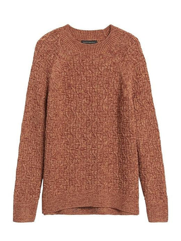 Marled Cable-Knit Sweater in Caramel Sugar