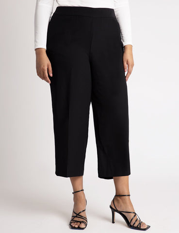 Cropped Trouser in Black