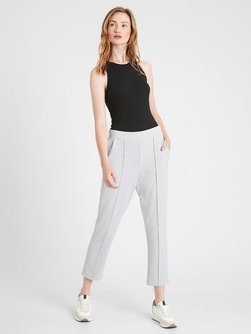 Scuba Knit Commuter Pant in Silver