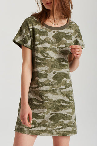 Dena Camo Dress in Forest Green Camo Print