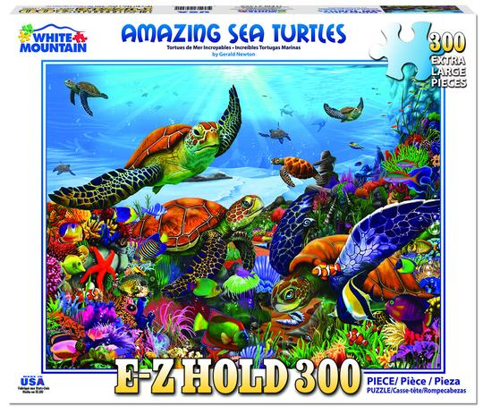 Copy of White Mountain 300 Extra Large Piece Jigsaw Puzzle -Amazing Sea Turtles