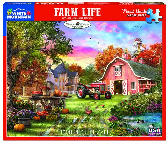 White Mountain 1000 Piece Jigsaw Puzzle - Farm Life