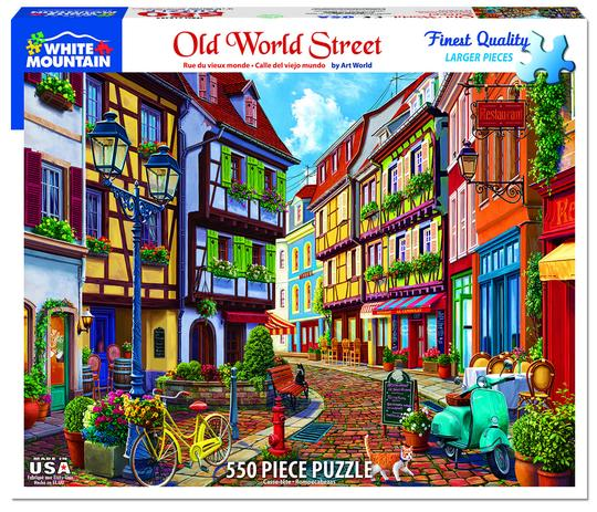 White Mountain 550 Piece Jigsaw Puzzle - Old World Street