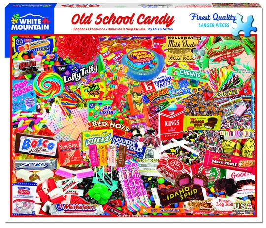 White Mountain 550 Piece Jigsaw Puzzle - Old School Candy