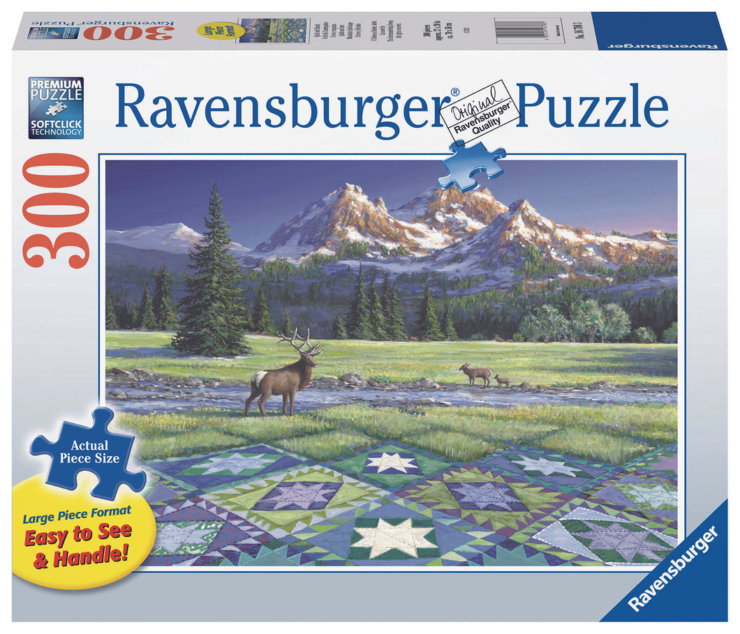 Ravensburger 300 Large Piece Jigsaw Puzzle - Mountain Quiltscape