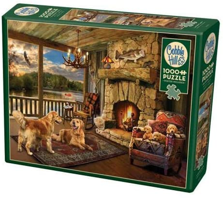 Cobble Hill 1000 Piece Jigsaw Puzzle - Lakeside Cabin
