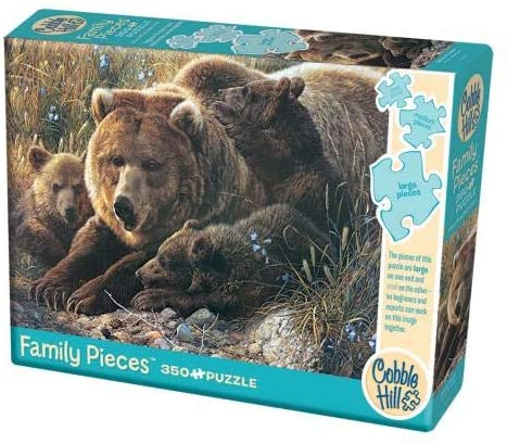 Cobble Hill 350 Piece Jigsaw Puzzle - Grizzly Family