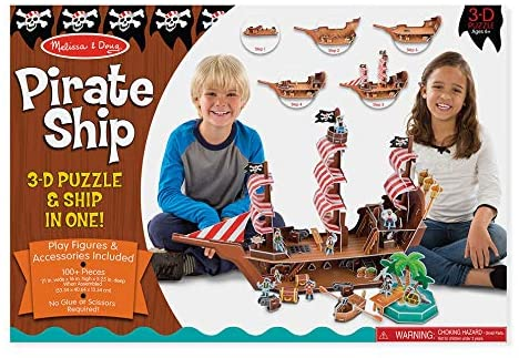 Melissa and Doug 3-D Puzzle - Pirate Ship