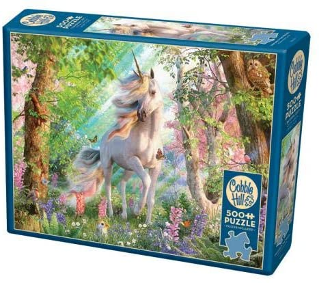 Cobble Hill 500 Piece Jigsaw Puzzle - Unicorn in the Woods