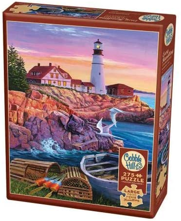 Cobble Hill 275 Extra Large Piece Jigsaw Puzzle - Lighthouse Cove