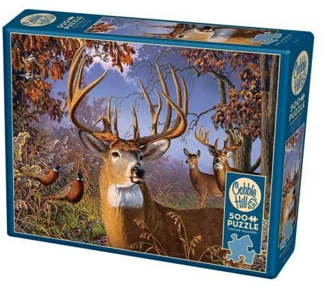 Cobble Hill 500 Piece Jigsaw Puzzle - Deer and Pheasant