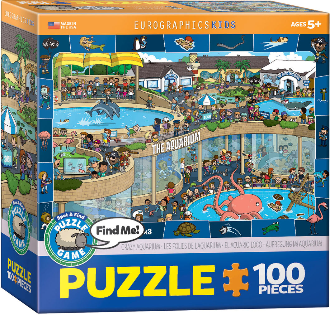 Eurographics 100 Piece Jigsaw Puzzle - The Crazy Aquarium
