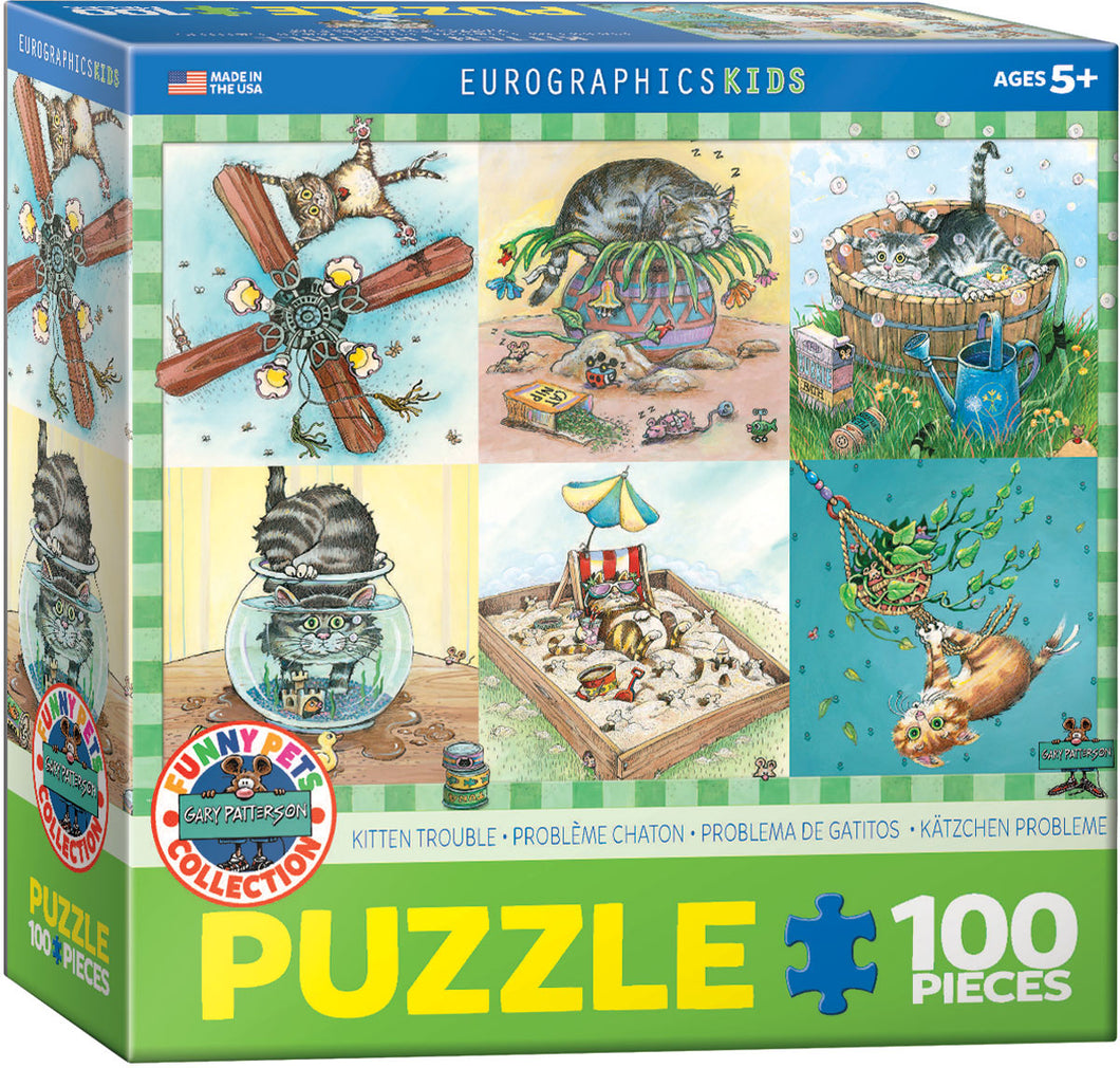 Eurographics 100 Piece Jigsaw Puzzle - Kitten Trouble