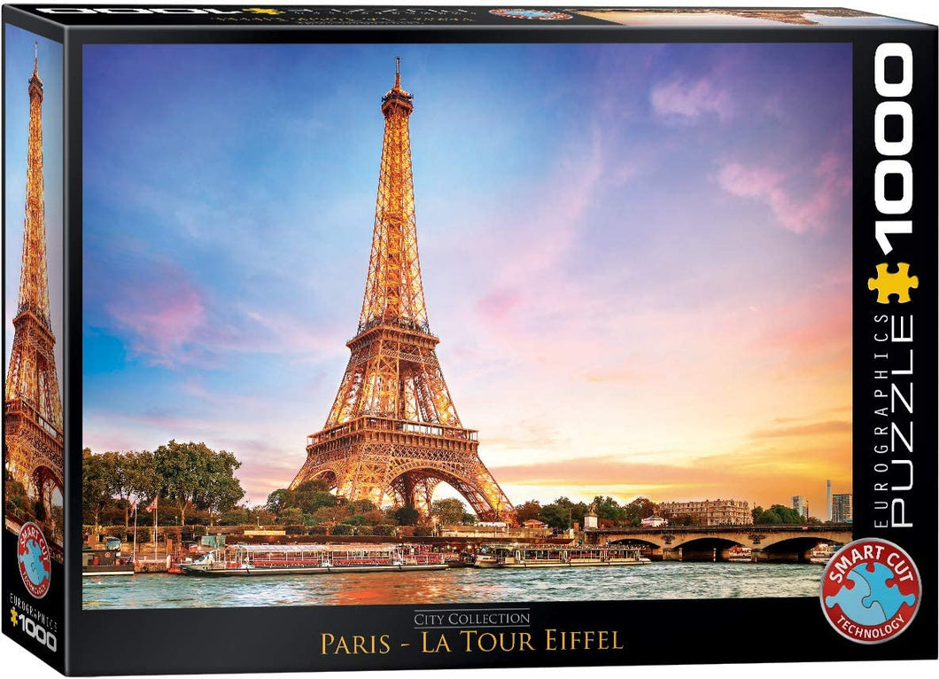 Eurographics 1000 Piece Jigsaw Puzzle - Paris Eiffel Tower