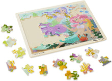 Load image into Gallery viewer, Melissa and Doug 48 Piece Wooden Tray Jigsaw Puzzle - Mermaids