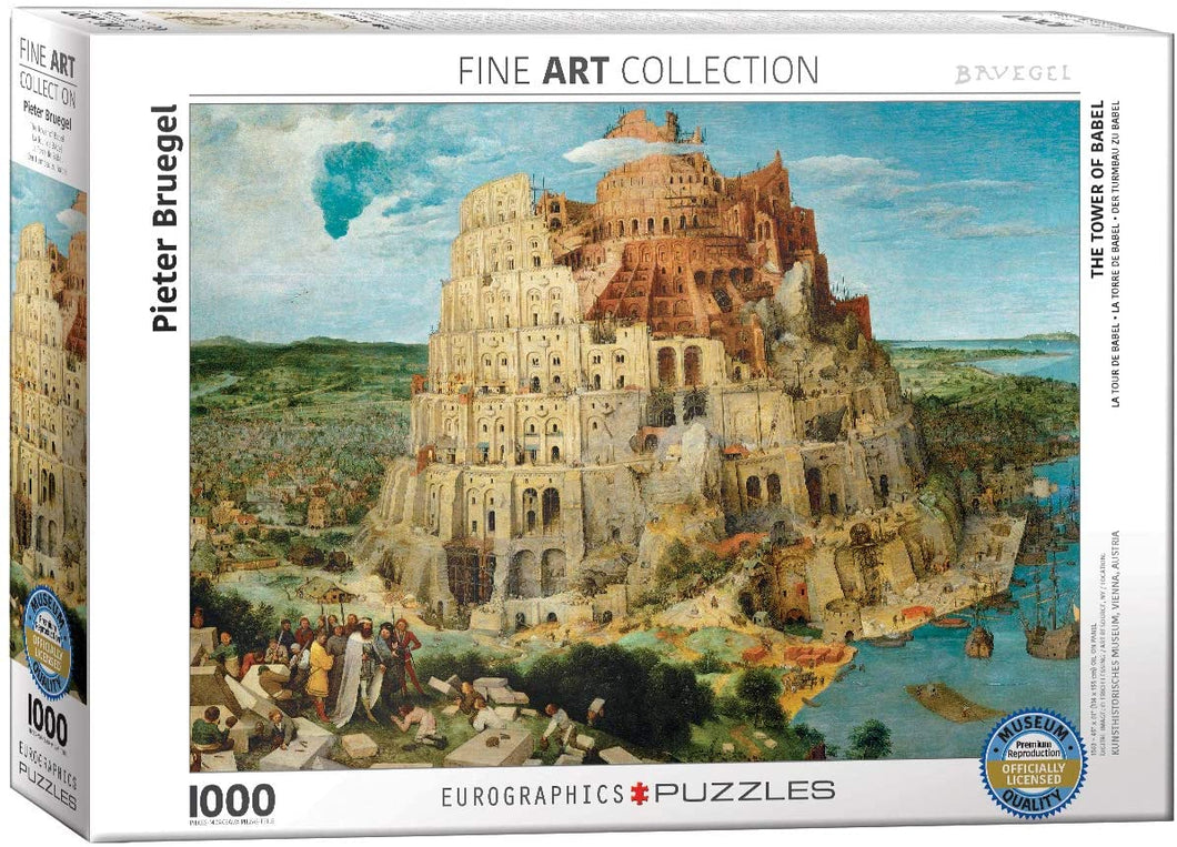 Eurographics 1000 Piece Jigsaw Puzzle - The Tower of Babel