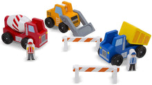 Load image into Gallery viewer, Melissa and Doug Construction Vehicle Set