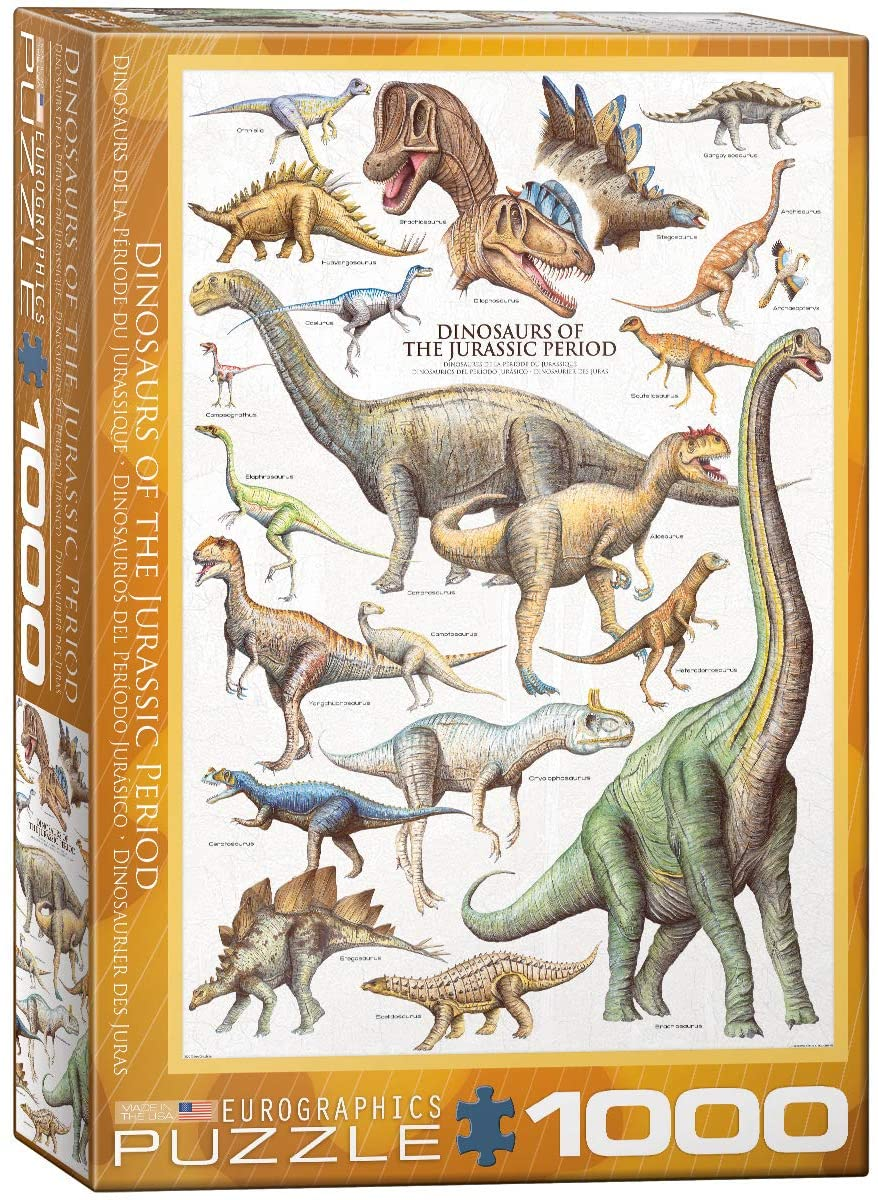 Eurographics 1000 Piece Jigsaw Puzzle - Dinosaurs of the Jurassic Period