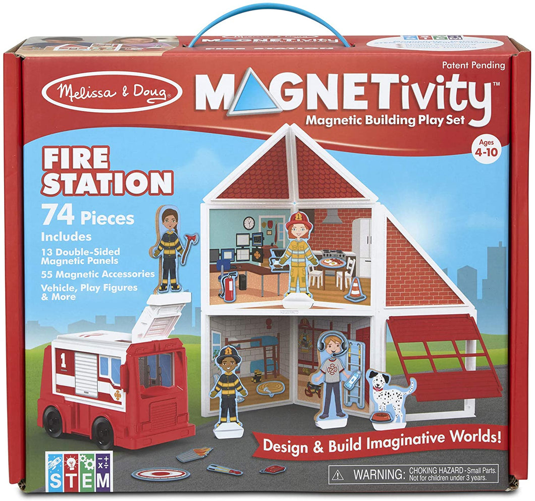 Melissa and Doug Magnetivity Building Set - Fire Station